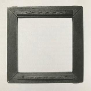 Square frame made for Sheila Hicks, ca. 1965