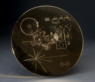 Voyager Golden Record in Electroplated Case