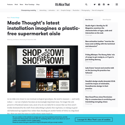 Made Thought's latest installation imagines a plastic-free supermarket aisle