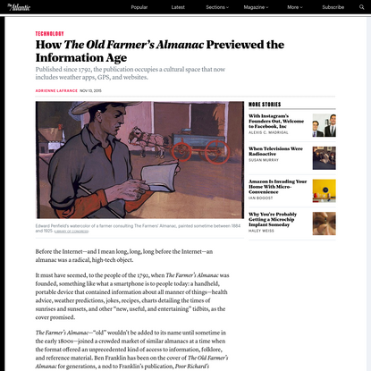 How The Old Farmer's Almanac Previewed the Information Age