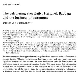 The Calculating Eye - William J. Ashworth