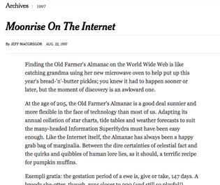 Moonrise On The Internet