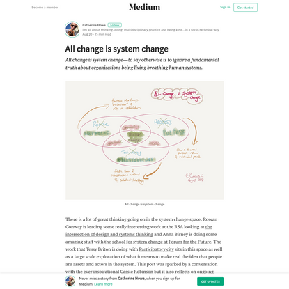 All change is system change - Catherine Howe - Medium