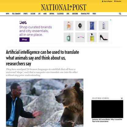 Artificial intelligence can be used to translate what animals say and think about us, researchers say
