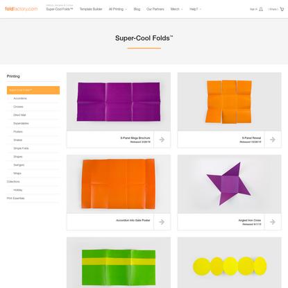 Foldfactory | Super-Cool Folds™