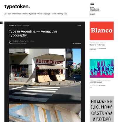 Type in Argentina - Vernacular Typography