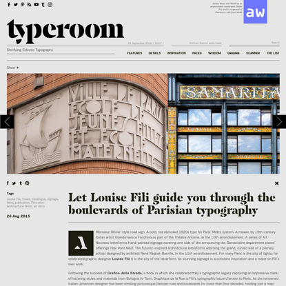 Let Louise Fili guide you through the boulevards of Parisian typography