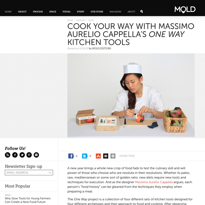 Cook Your Way With Massimo Aurelio Cappella's One Way Kitchen Tools