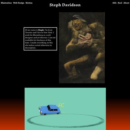 Stephanie Davidson - Illustration, Motion and Digital