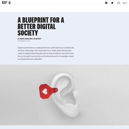 A Blueprint for a Better Digital Society