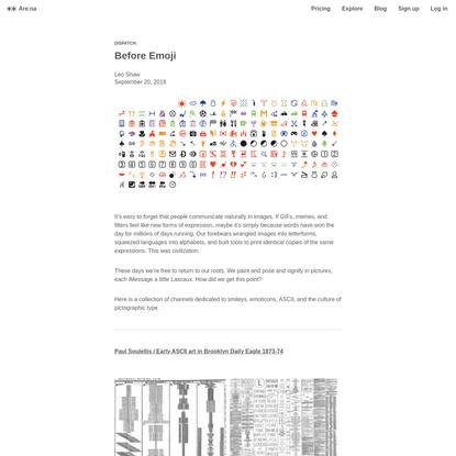 Are.na / Blog – Before Emoji