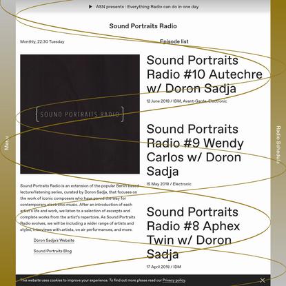 Sound Portraits Radio - Cashmere Radio