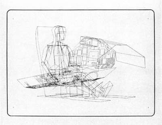 William Alan Fetter, Twenty-Element Figure Placed in Cockpit Geometry, 1966