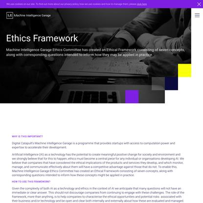 Ethics Framework - Responsible AI