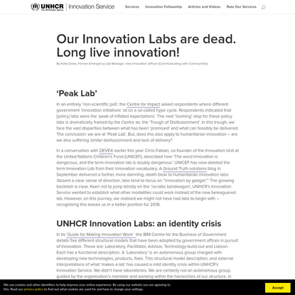 Our Innovation Labs are dead. Long live innovation! - UNHCR Innovation