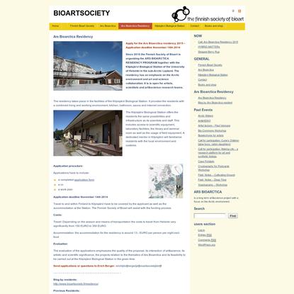 Ars Bioarctica Residency @ Bioartsociety