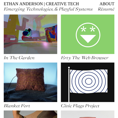 Ethan Anderson   Creative Technologist