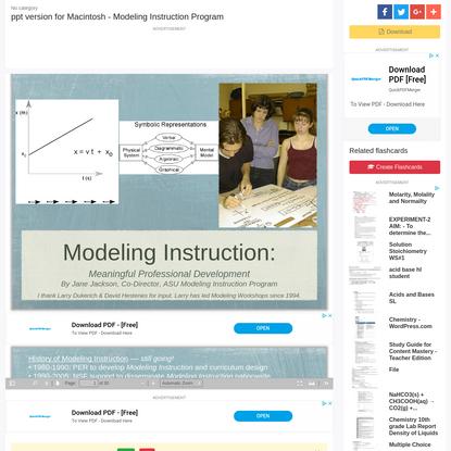 ppt version for Macintosh - Modeling Instruction Program