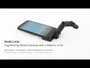 MobiLimb: Augmenting Mobile Devices with a Robotic Limb [UIST 2018]