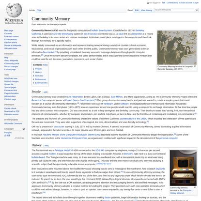 Community Memory - Wikipedia