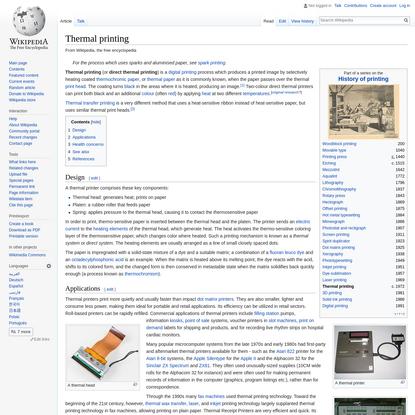Thermal printing - Wikipedia