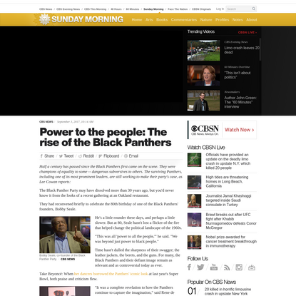 Power to the people: The rise of the Black Panthers