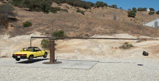 Chris Burden, Porsche with Meteorite, 2013