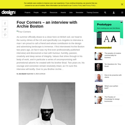 Four Corners - an interview with Archie Boston - Design Week