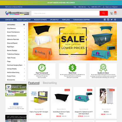Bannerworld.com-The Cheapest Fabric Banners and Vinyl Banners in Los Angeles-$2.00/sq.ft