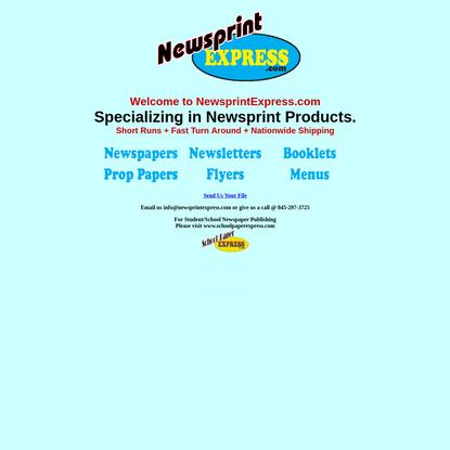 newsprintexpress - Economically printing newspapers