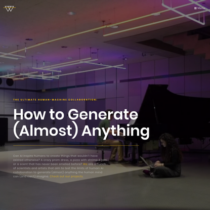 How to Generate (Almost) Anything