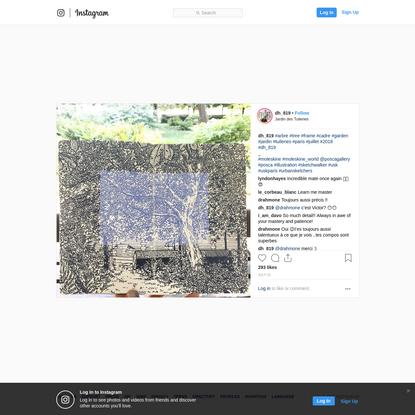#arbre #tree #frame #cadre #garden #jardin #tuileries #paris #juillet #2018 #dh_819 _ #moleskine #moleskine_world @poscagall...
