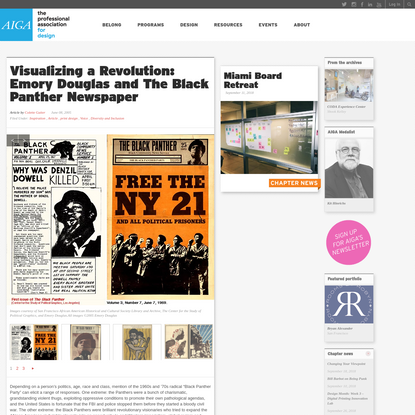 Visualizing a Revolution: Emory Douglas and The Black Panther Newspaper