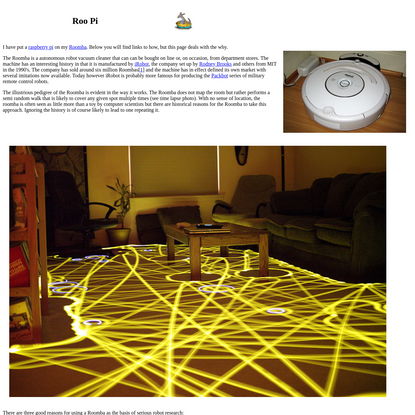 Roo Pi - controlling a Roomba with a raspbery pi