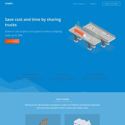 Viaopt - Save cost and time by sharing trucks
