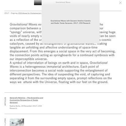 Gravitational Waves · STUDIO TOMÁS SARACENO