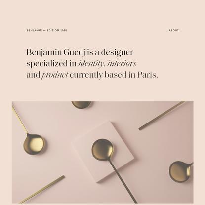 Benjamin Guedj - Edition 2018