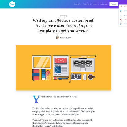Writing an effective design brief: Awesome examples and a free template to get you started - Learn