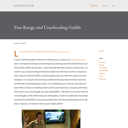 Free-Range and Unschooling Guilds