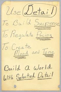 "Octavia Butler, ""Notes on Writing"""