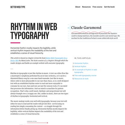 Rhythm in Web Typography