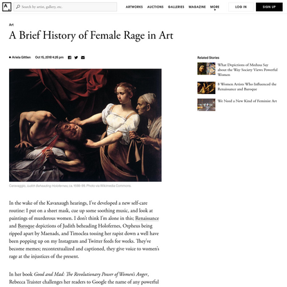 The 7 Most Vengeful Depictions of Female Rage in Art History