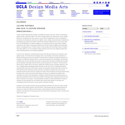 UCLA Design Media Arts / Calendar