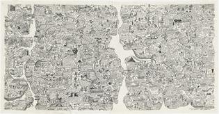 Öyvind Fahlström, Sketch for World Map, 1972