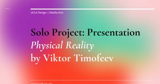 VR Escapism: Solo Project