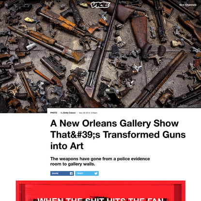 A New Orleans Gallery Show That's Transformed Guns into Art