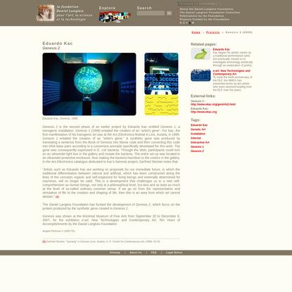 Eduardo Kac : Genesis 2