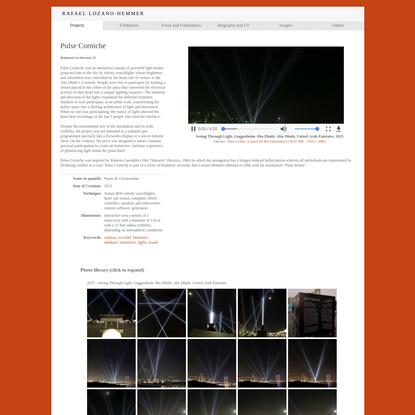 """Rafael Lozano-Hemmer - Project """"Pulse Corniche"""""""