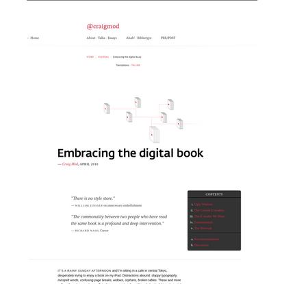 Embracing the Digital Book - by Craig Mod