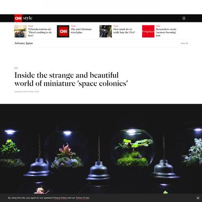 Kyoto 'gardener' builds space-like terrariums